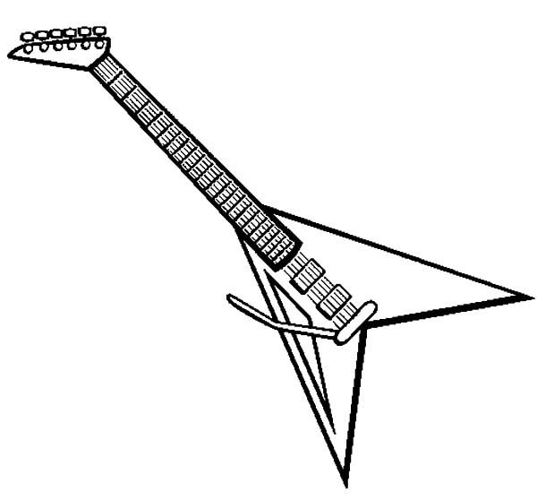 Rock guitar coloring pages to print