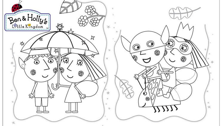 Romantic Ben And Holly Coloring Page