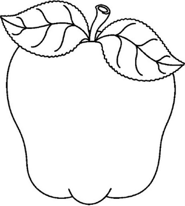 Rose Apple Coloring Page