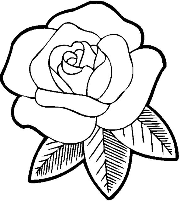 Rose Coloring Pages For Girls Flowers