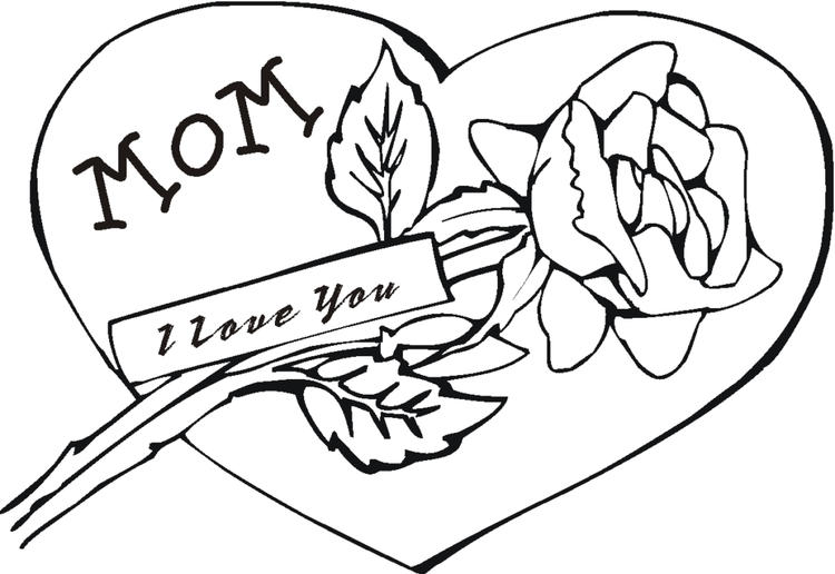 Rose Coloring Pages Love For Mom