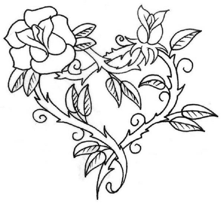 Rose Thorn Coloring Pages