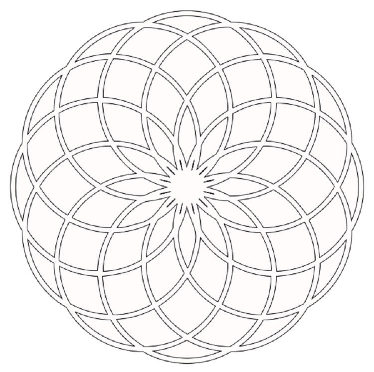 Rose Window Coloring Pages