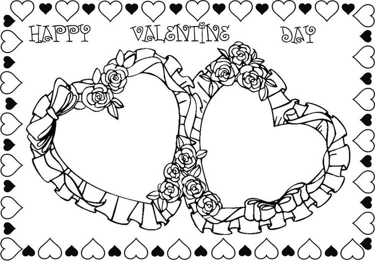Roses Valentines Day Coloring Pages