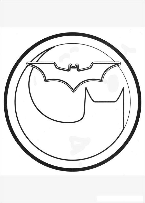 Rounded Batman Logo Coloring Page