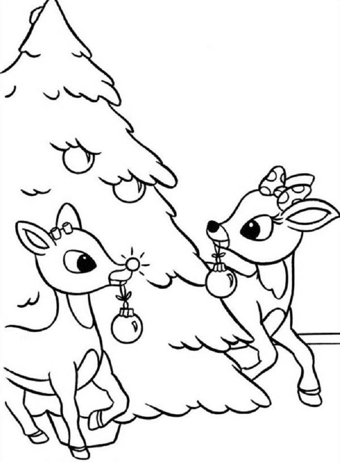 Rudolph Christmas Coloring Pages