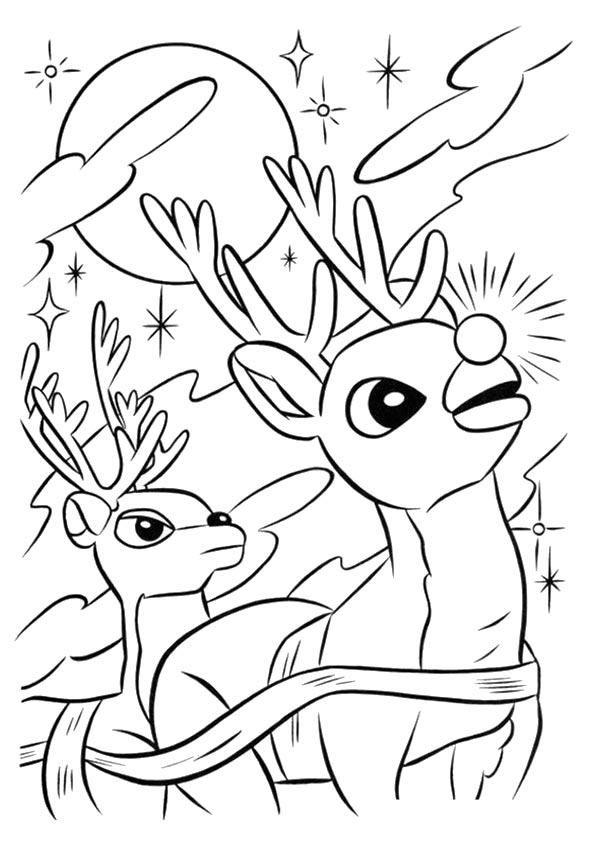 Rudolph The Red Nosed Reindeer Coloring Pages Christmas Eve