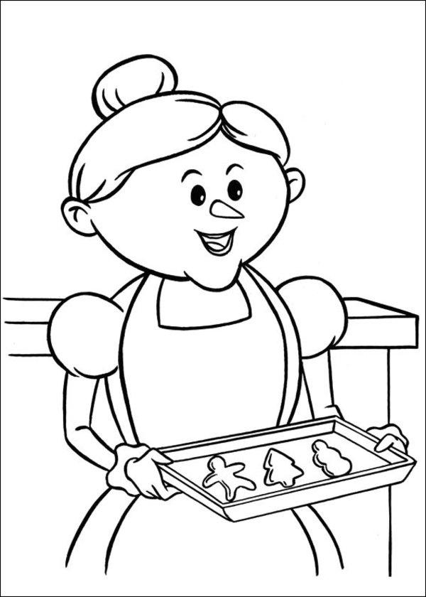 Rudolph The Red Nosed Reindeer Coloring Pages Mrs Claus