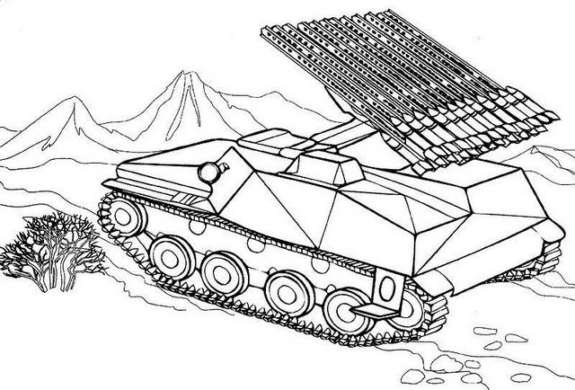 Russian Tank War Military Coloring Pages