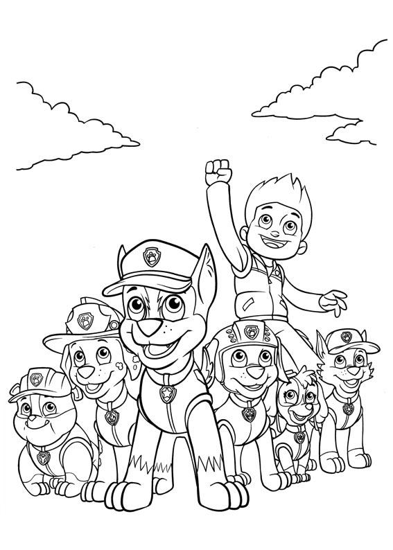 Ryder And The Paw Patrol Coloring Pages