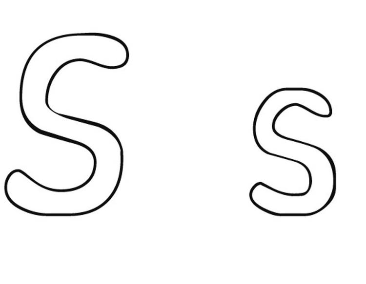 S Alphabet Coloring Page