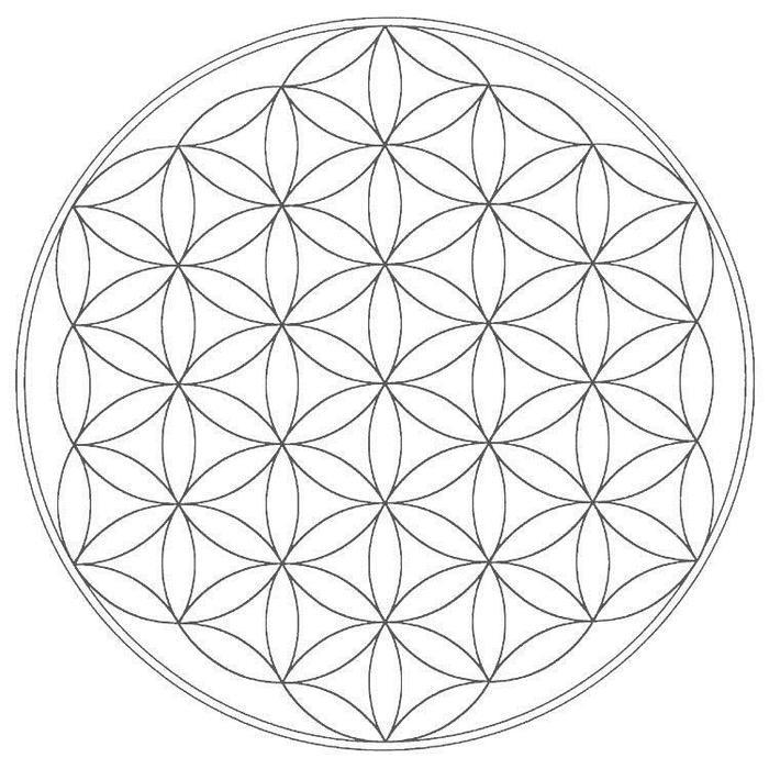 Sacred Geometric Coloring Pages