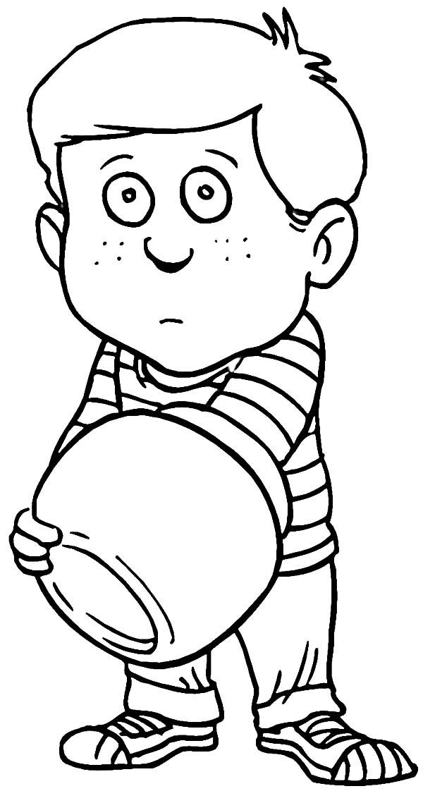Sad Boy With Empty Cooki Jar Coloring Pages