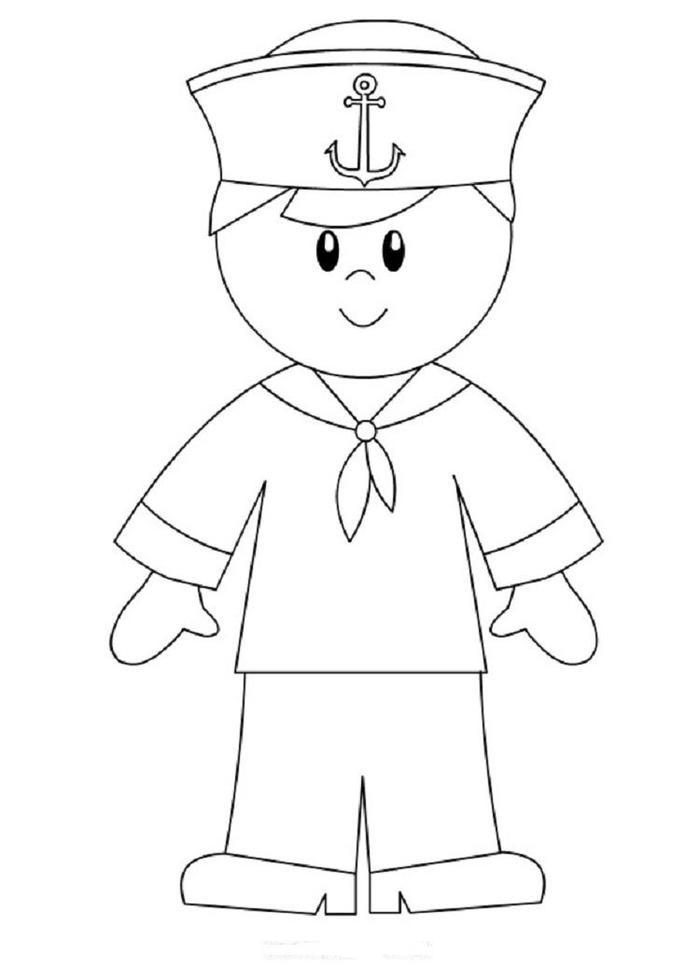 Sailor Coloring Pages For Preschool