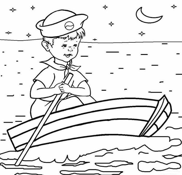 Sailor Kid Coloring Pages