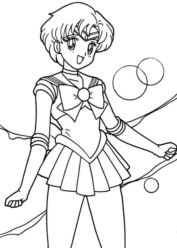 Sailor Mercury Coloring Pages