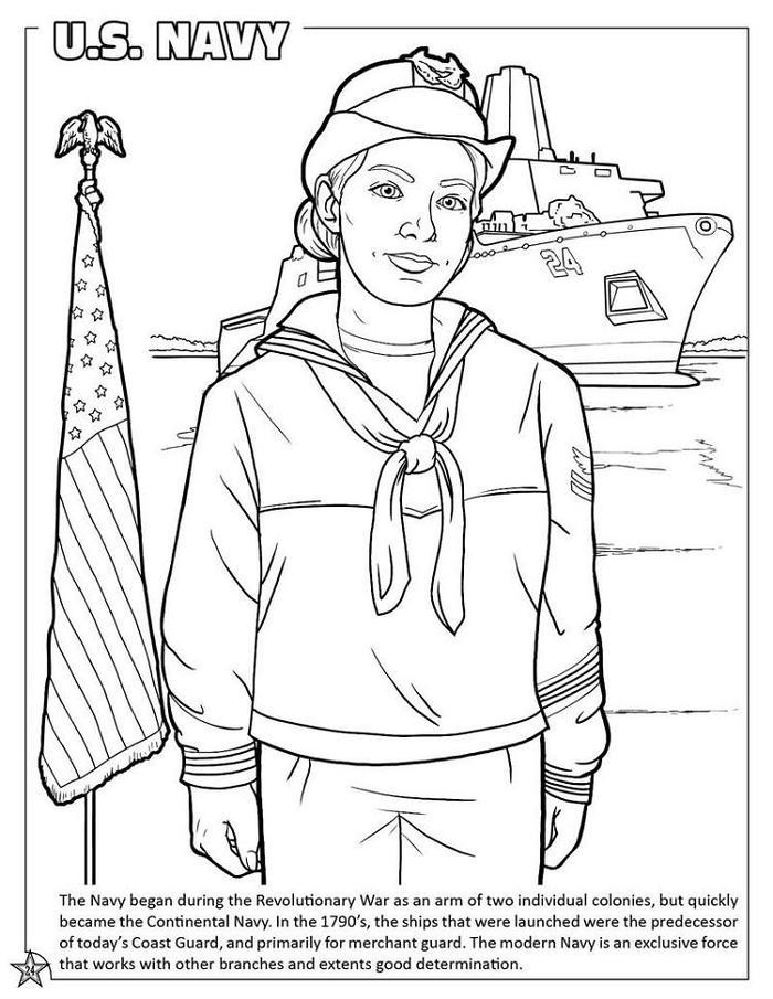 Sailor Military Uniforms Coloring Pages