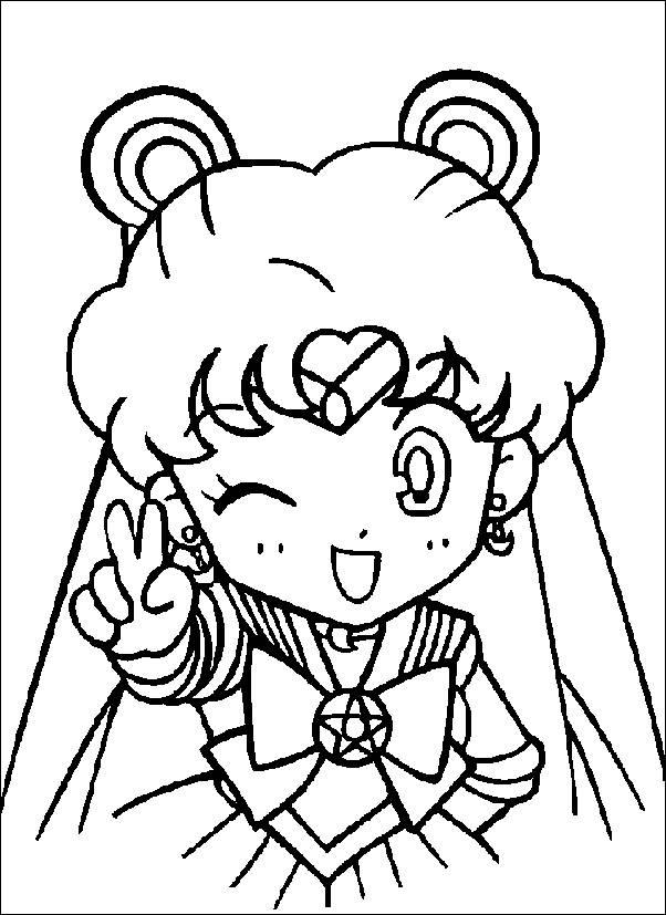 Sailor Moon Chibi Coloring Pages