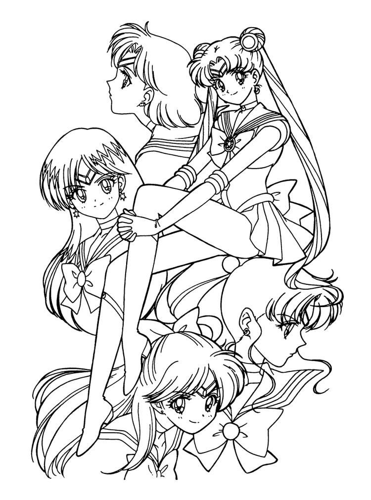 Sailor Moon Coloring Pages All Characters