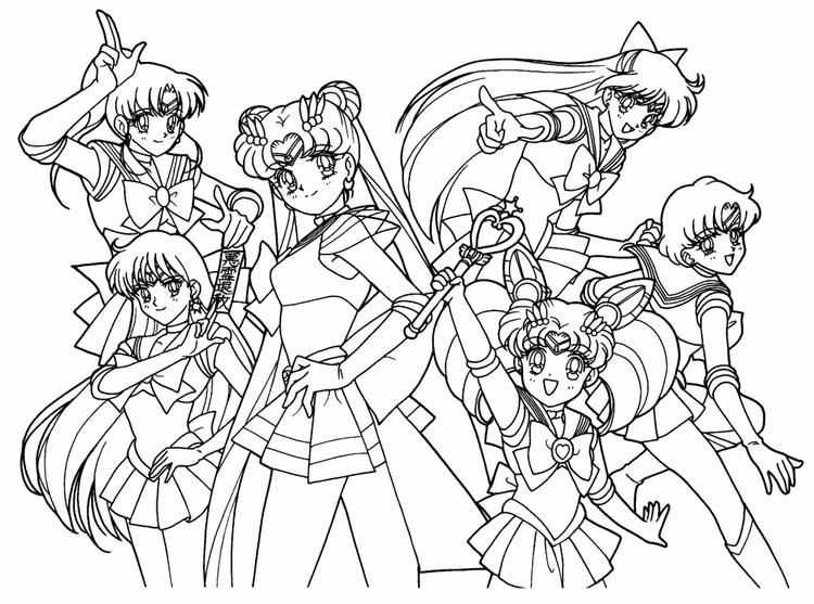 Sailor Moon Coloring Pages All Sailors