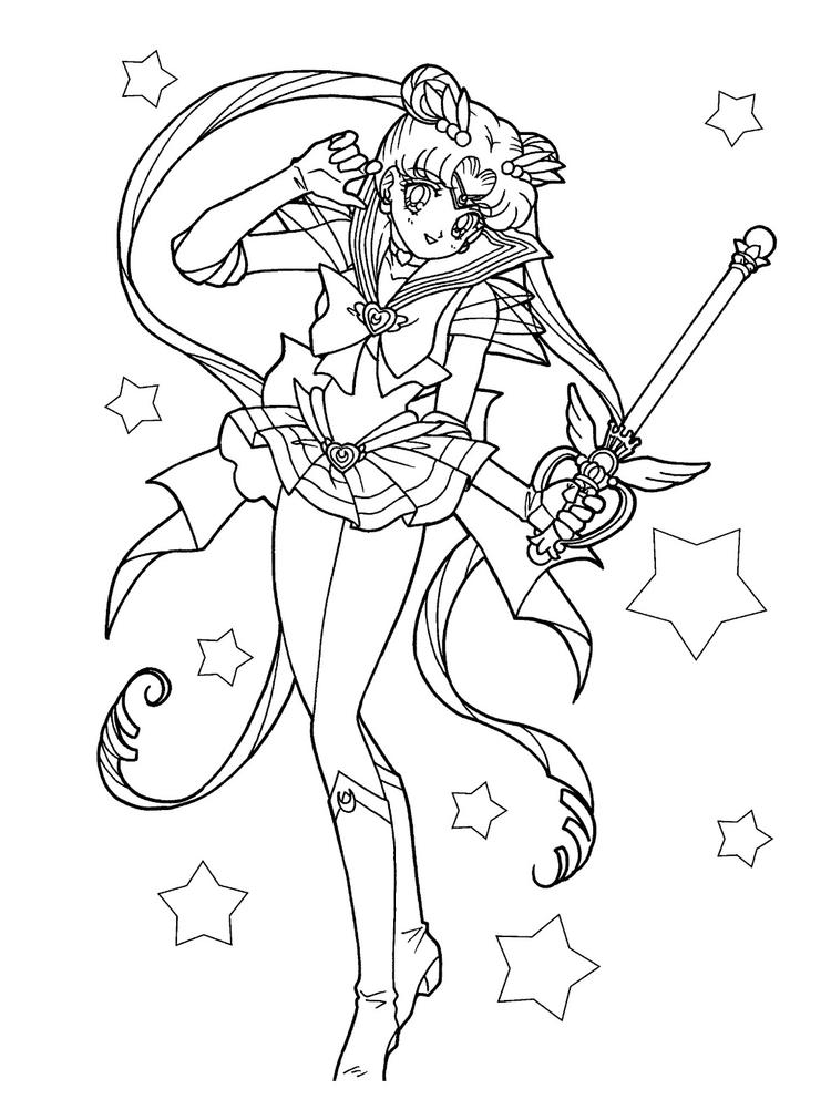Sailor Moon Coloring Pages Crystal Usagi