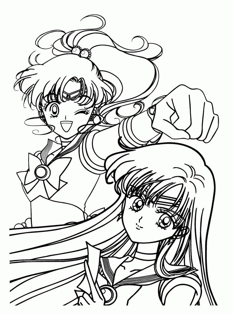 Sailor Moon Coloring Pages Jupiter And Mars