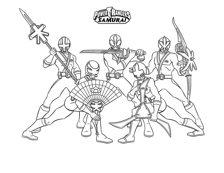Samurai Power Rangers Coloring Pages For Boys
