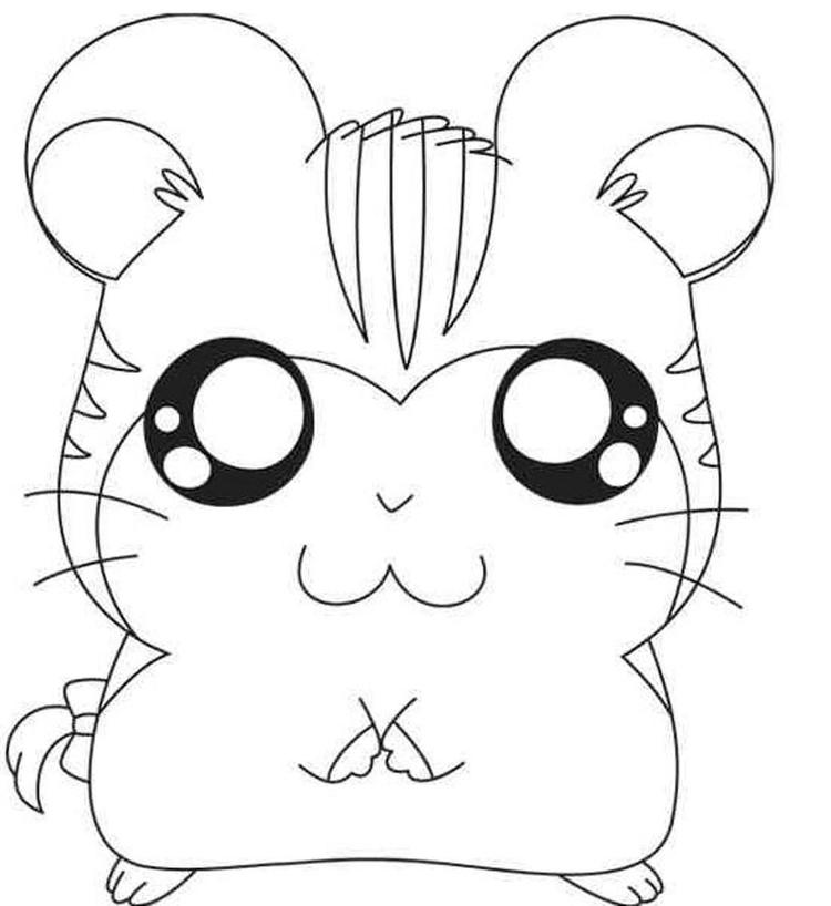 Sandy Hamtaro Coloring Pages