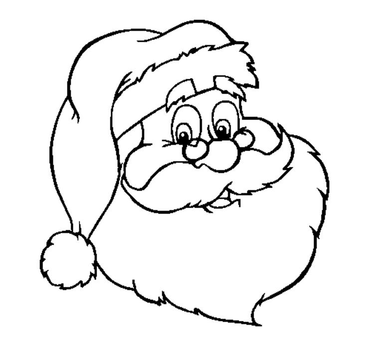 Santa Claus Coloring Pages For Kids