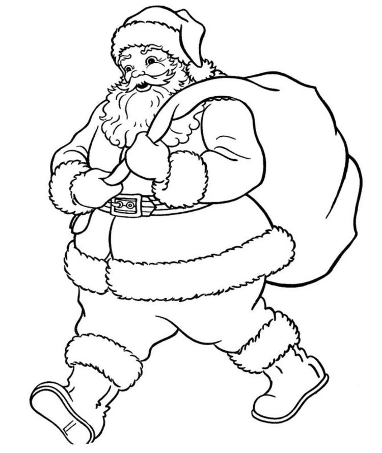 Santa Claus Coloring Pages Pictures S Photos Pics Full