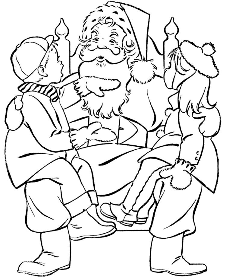 Santa Claus Coloring Pages With Kids
