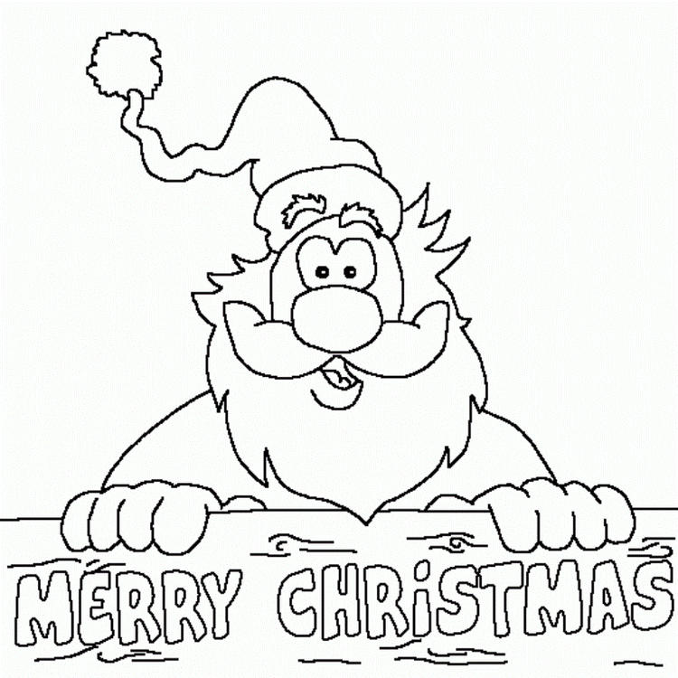 Santa Merry Christmas Coloring Pages