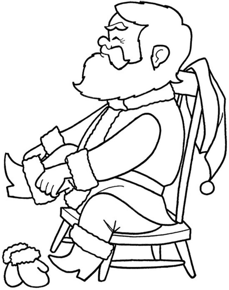 Santa Preparing For Christmas Coloring Pages Printable