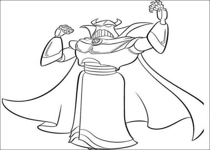 Sarge Alien Head Toy Story 2 Coloring Pages