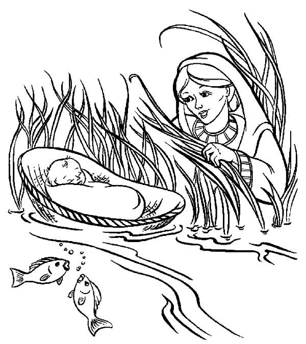 Save Babies Moses Coloring Pages