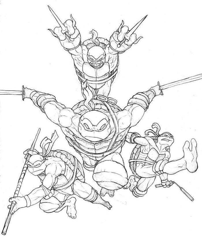 Scarce Teenage Mutant Ninja Turtles Coloring Pages