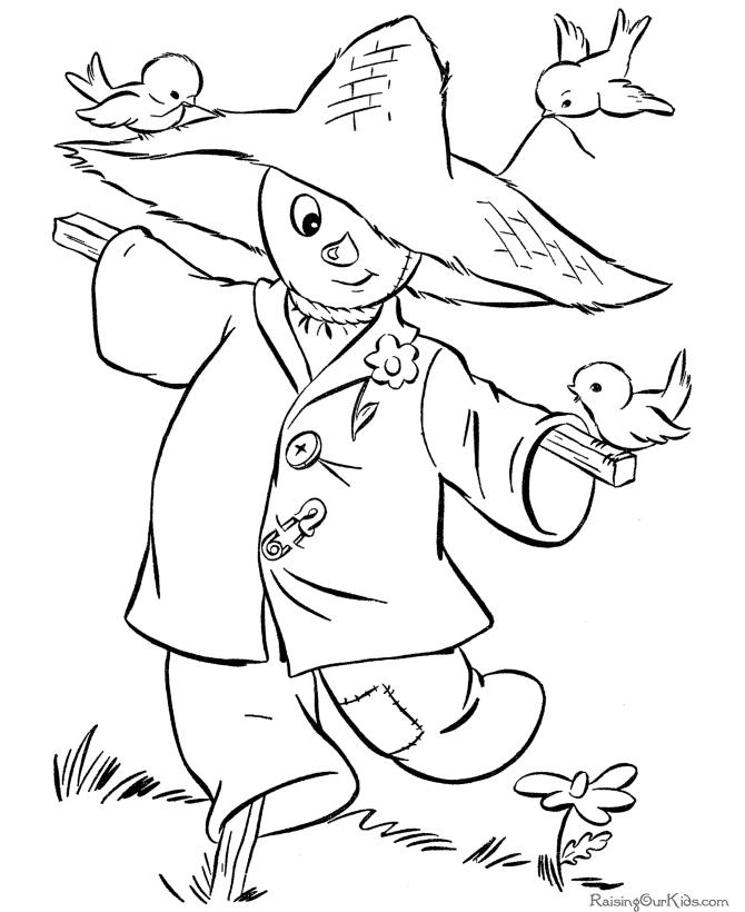 Scarecrow Printable Halloween Coloring Pages