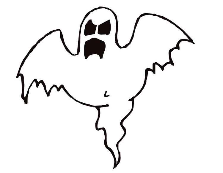 Scarey Ghost Coloring Pages