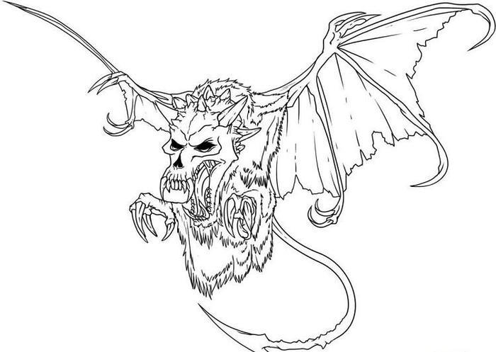 Scary Dragons Coloring Pages