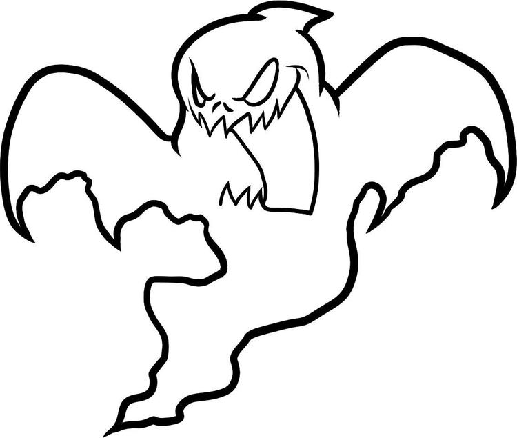 Scary Ghost Coloring Pages For Kids
