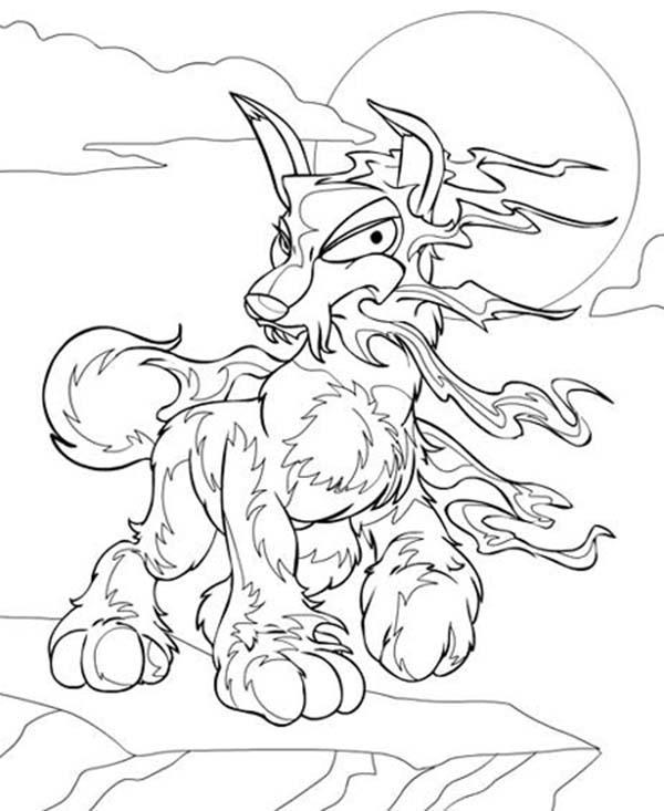 Scary Neopets Coloring Pages