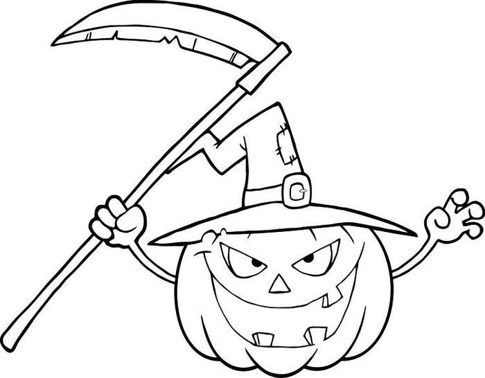 Scary Pumpkins Coloring Pages