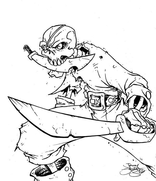 Scary Skeleton Coloring Pages
