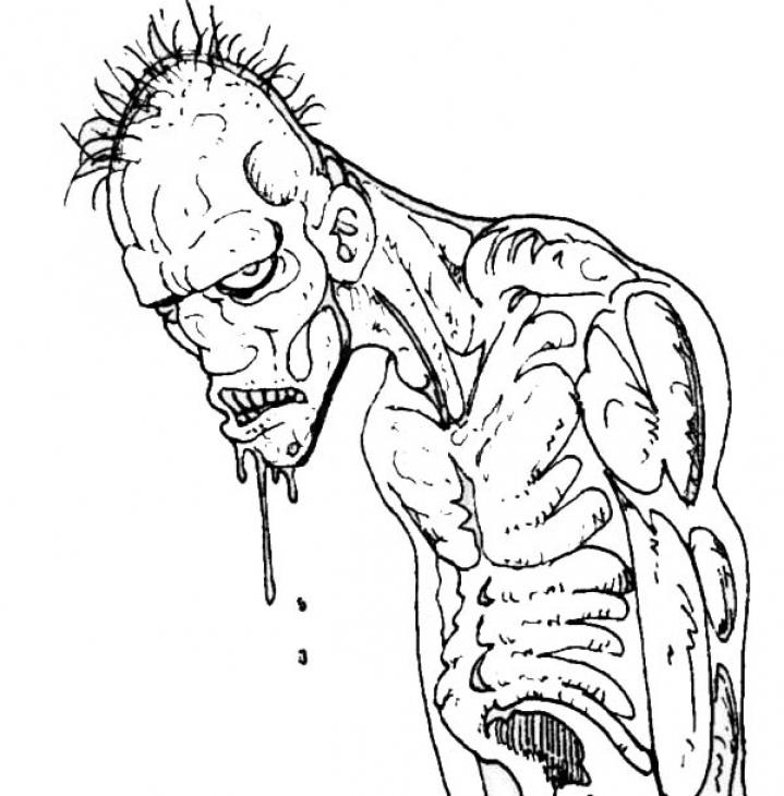 Scary Zombie Coloring Pages 2