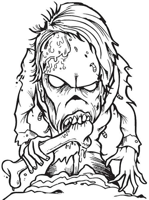 Scary Zombie Coloring Pages For Adults