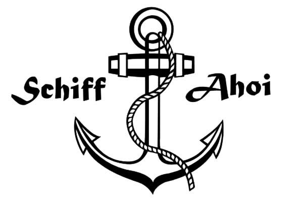 Schiff Ahoi Anchor Coloring Pages