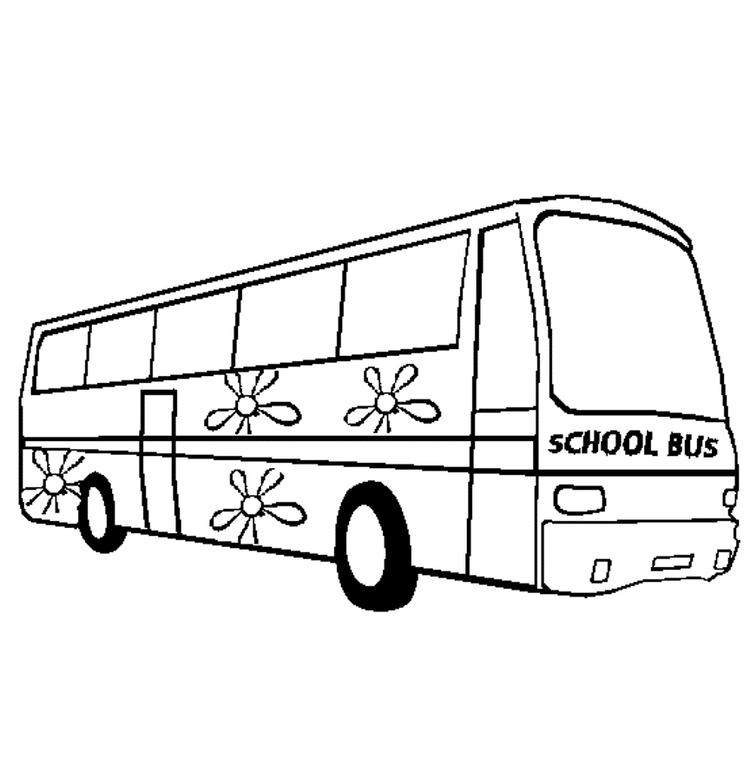 School Bus Coloring Page Picture
