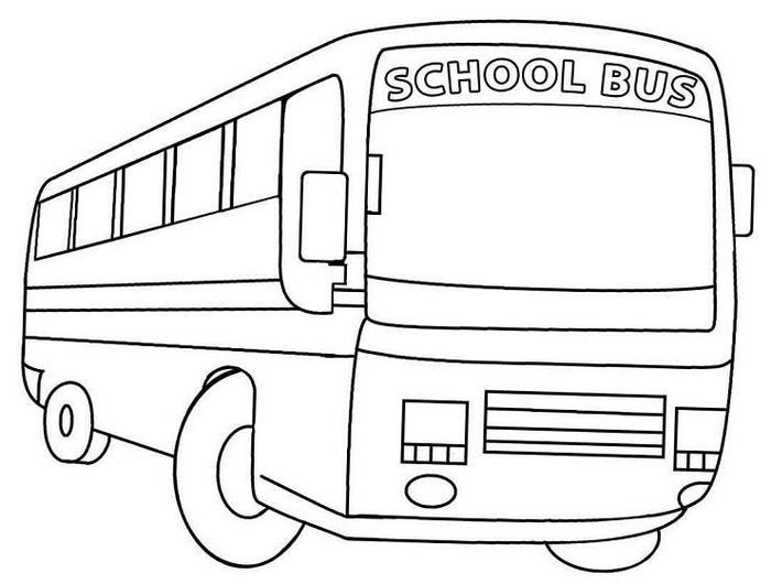 School Bus Colorinng Pages