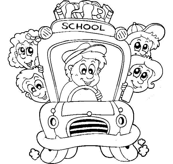 School Bus Driver Coloring Pages Printable