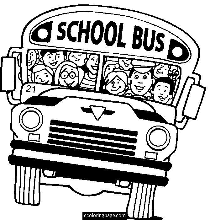 School Bus Driver Coloring Pages To Print